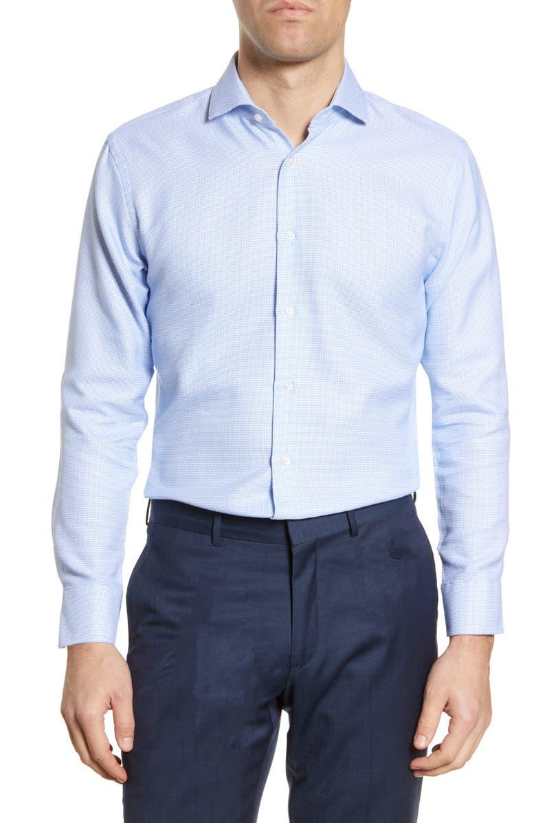 NORDSTROM MEN'S SHOP Trim Fit Dress Shirt, Main, color, BLUE CORNFLOWER