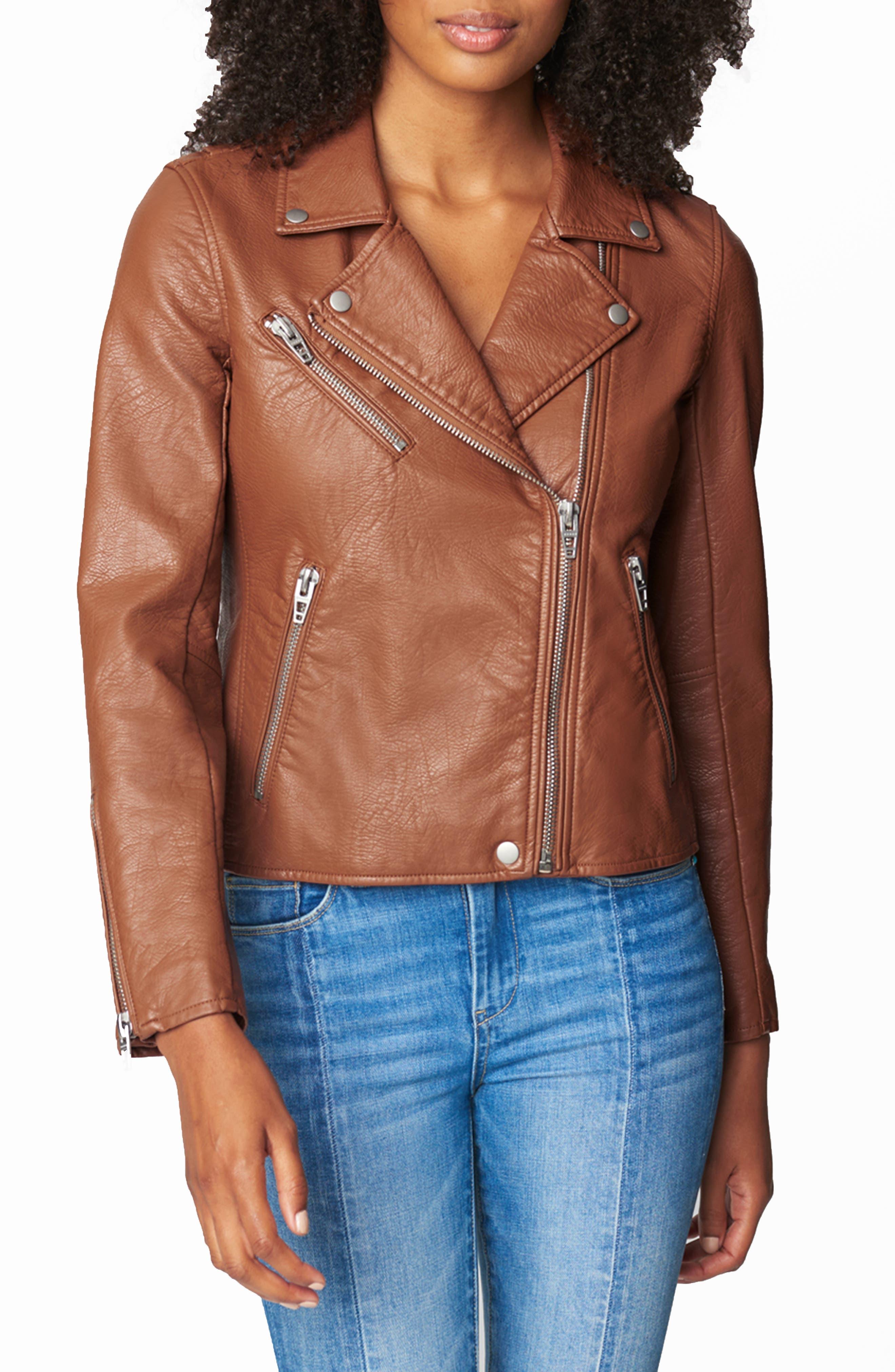 Women's Blanknyc Faux Leather Moto Jacket, Size Large - Red