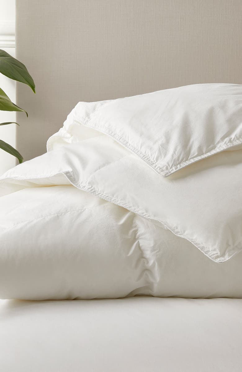 THE WHITE COMPANY 280 Thread Count Lightweight Down Alternative Comforter, Main, color, 100