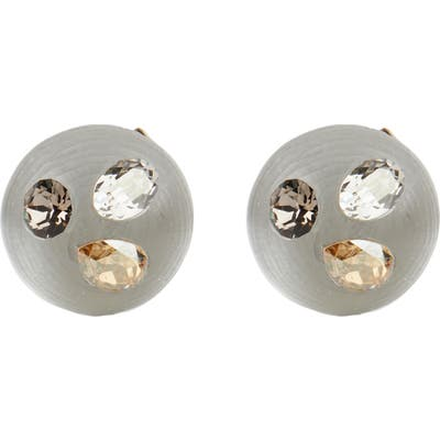 Alexis Bittar Future Antiquity Crystal Stud Button Earrings