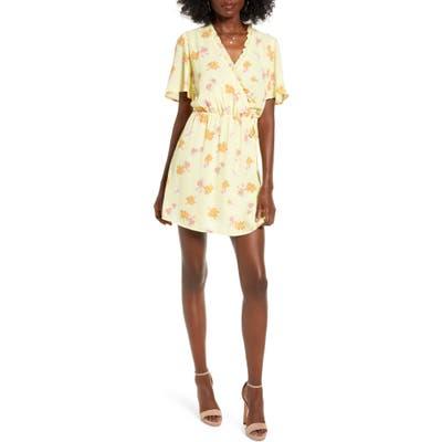 All In Favor Ruffle Wrap Dress, Yellow