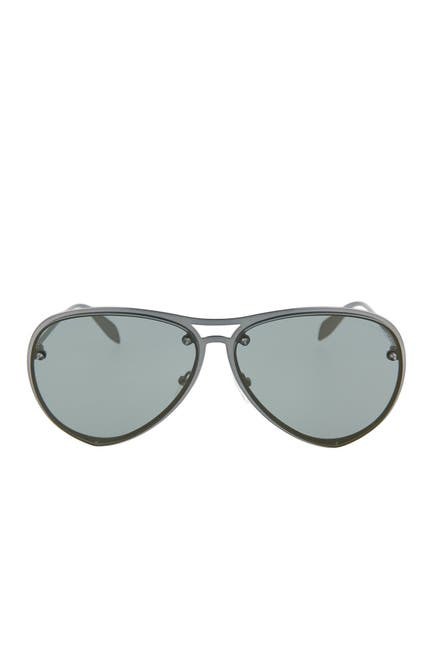 Image of Alexander McQueen Core 63mm Aviator Sunglasses