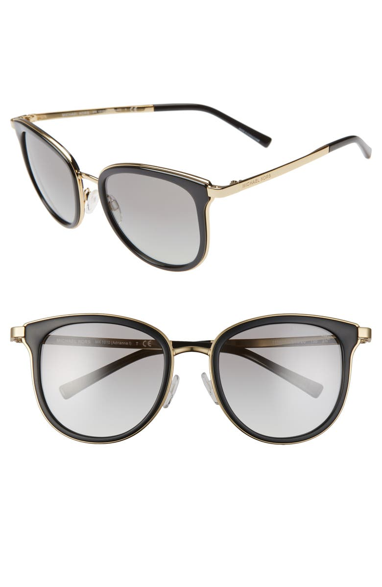 MICHAEL KORS 54mm Round Sunglasses, Main, color, 005