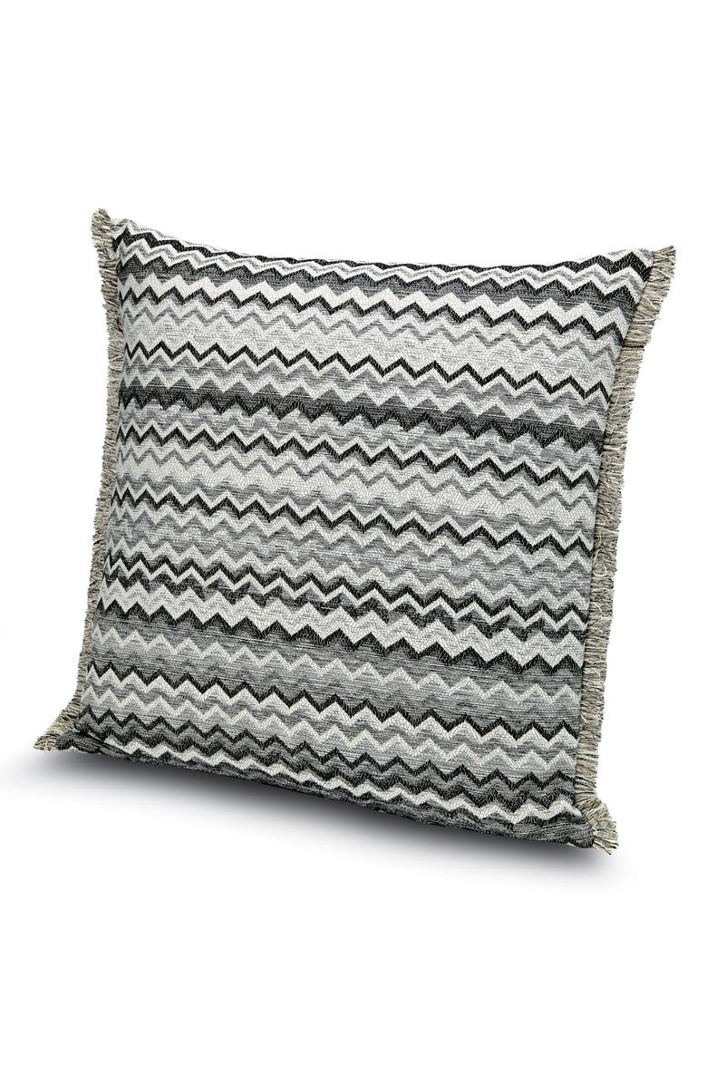 MISSONIHOME Wipptal Chevron Accent Pillow, Main, color, BLACK/ WHITE