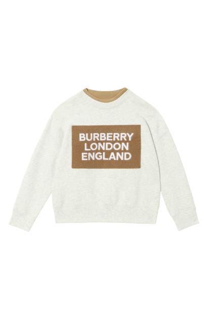 Burberry Girls' Fabbio Logo Sweatshirt - Little Kid, Big Kid In White