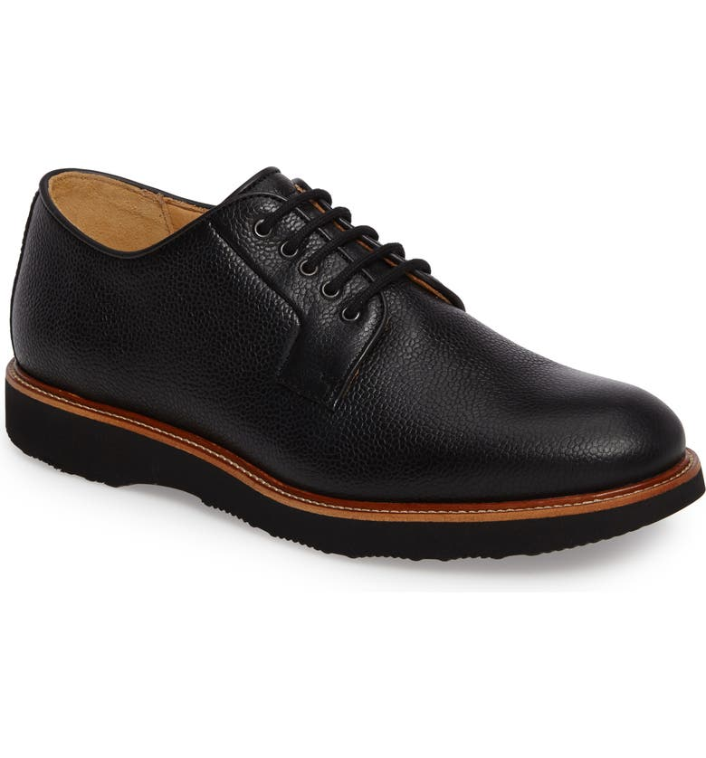 SAMUEL HUBBARD Highlander Plain Toe Derby, Main, color, BLACK PEBBLE GRAIN
