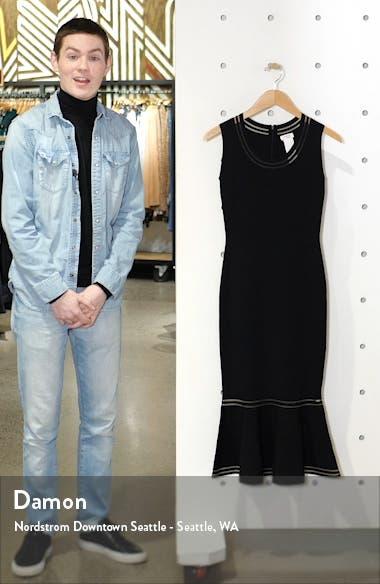 Illusion Stripe Sleeveless Midi Dress, sales video thumbnail