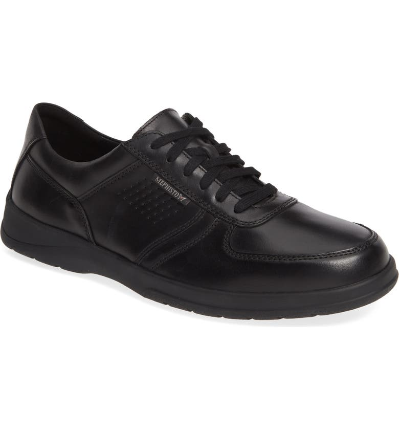 MEPHISTO Matteo Walking Shoe, Main, color, BLACK LEATHER
