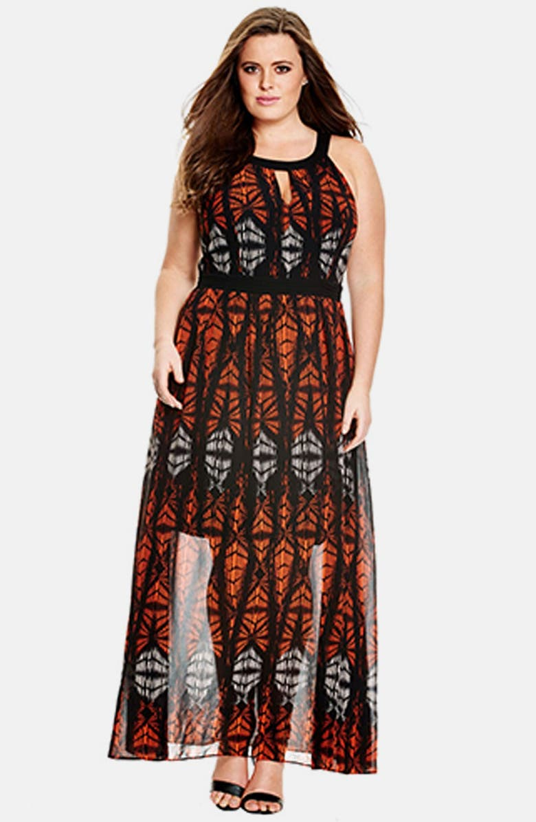 City Chic \'Batik Goddess\' Maxi Dress (Plus Size) | Nordstrom
