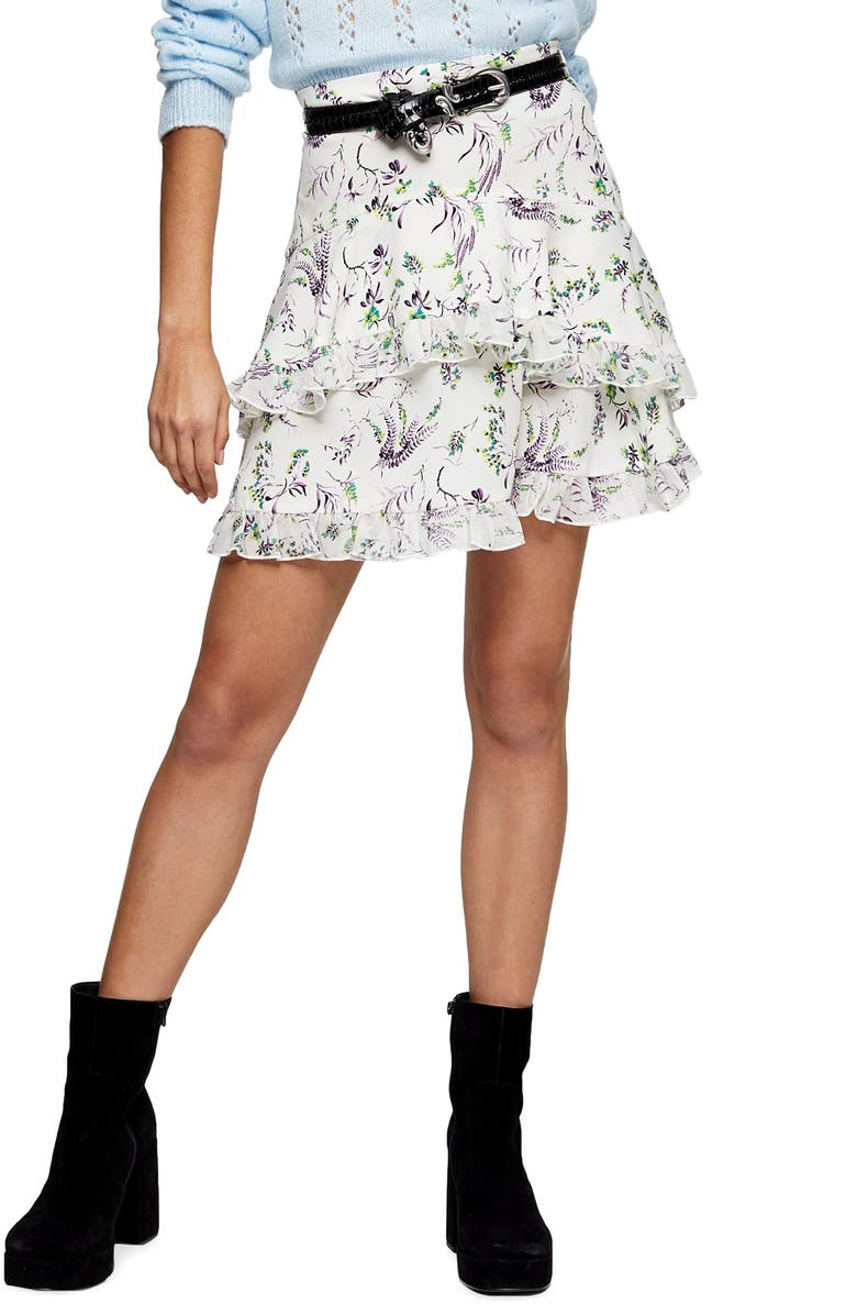 TOPSHOP IDOL Desiree Layered Skirt, Main, color, 900