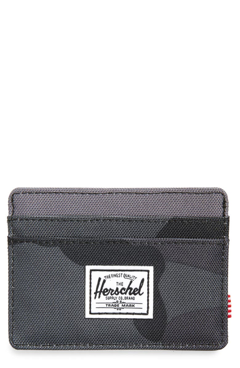 HERSCHEL SUPPLY CO. Charlie RFID Card Holder, Main, color, NIGHT CAMO