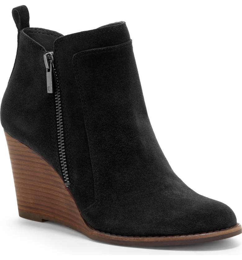 LUCKY BRAND Yahir Wedge Bootie, Main, color, 001
