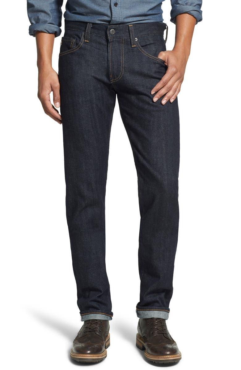 AG 'Nomad' Skinny Fit Selvedge Jeans, Main, color, 405