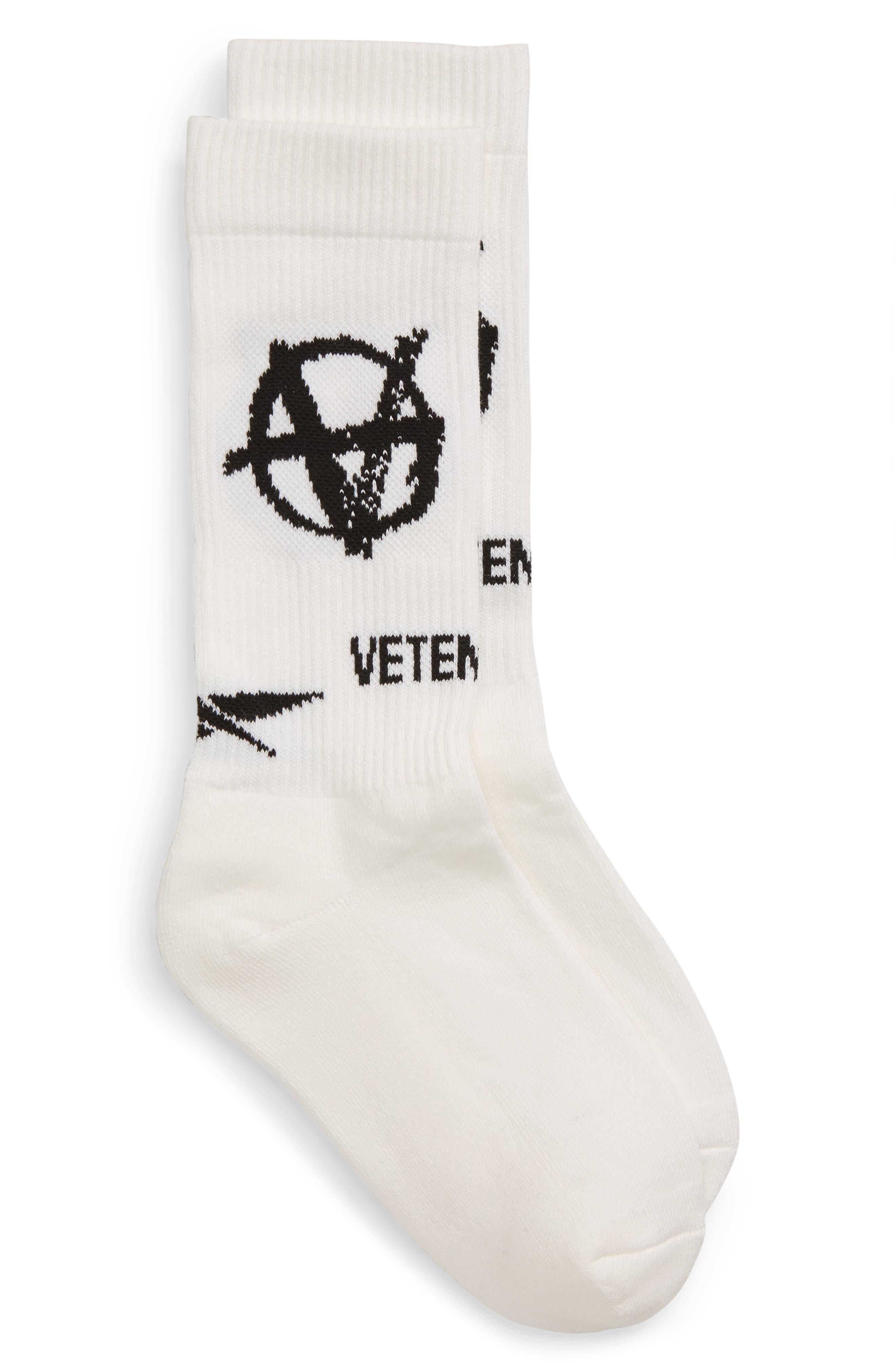 Vetements Socks Anarchy Crew Socks