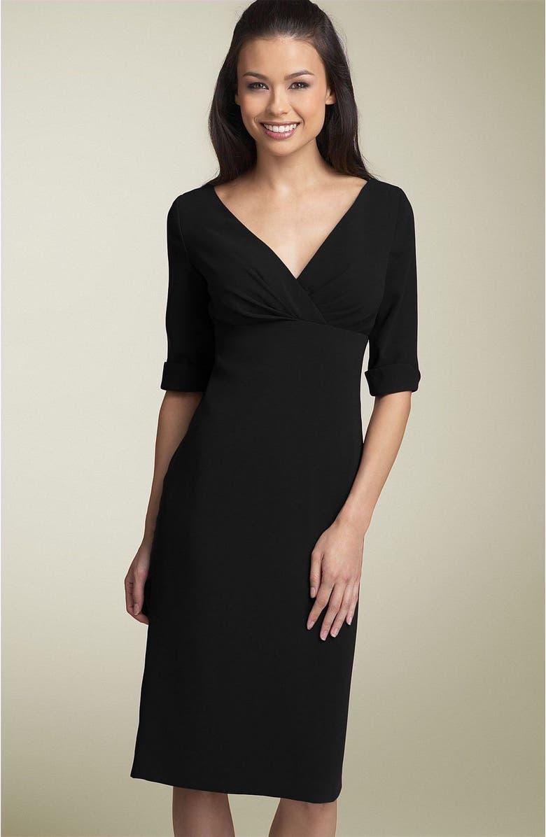 ELIZA J Surplice Sheath Dress, Main, color, 001