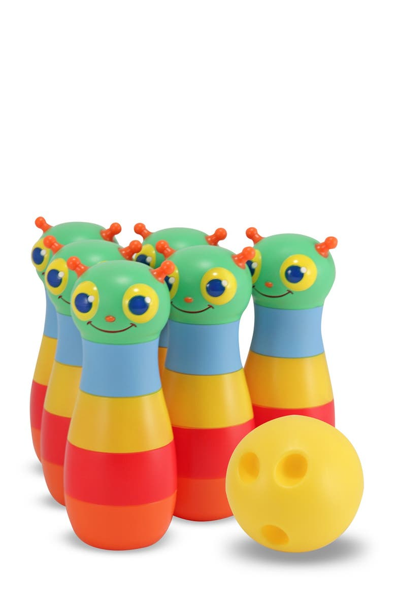 MELISSA AND DOUG 'Happy Giddy' Bowling Set, Main, color, 000