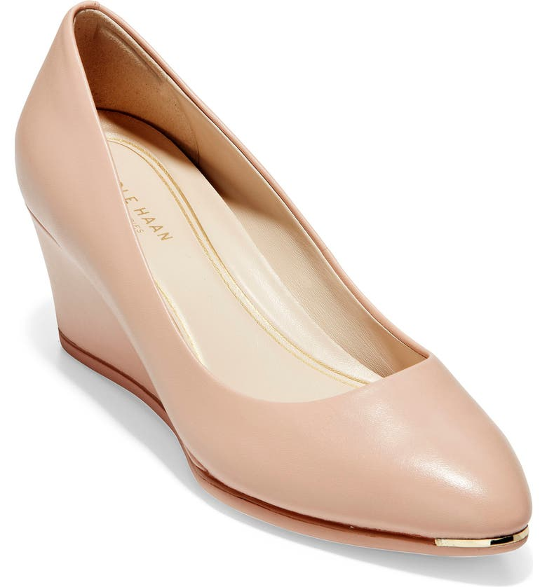 COLE HAAN Grand Ambition Wedge Pump, Main, color, MAHOGANY ROSE LEATHER