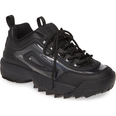 Fila Disruptor Ii Premium Clear Sneaker, Black