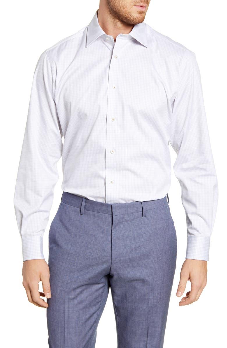 DAVID DONAHUE Regular Fit Check Dress Shirt, Main, color, DUNE