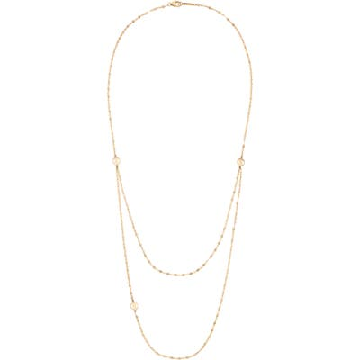 Lana Jewelry Small Flatman Triple Disc Double Strand Necklace