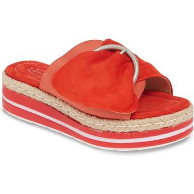 Sheridan Mia Weft Slide Sandal, Orange