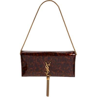 Saint Laurent Kate Calfskin Baguette Shoulder Bag - Brown