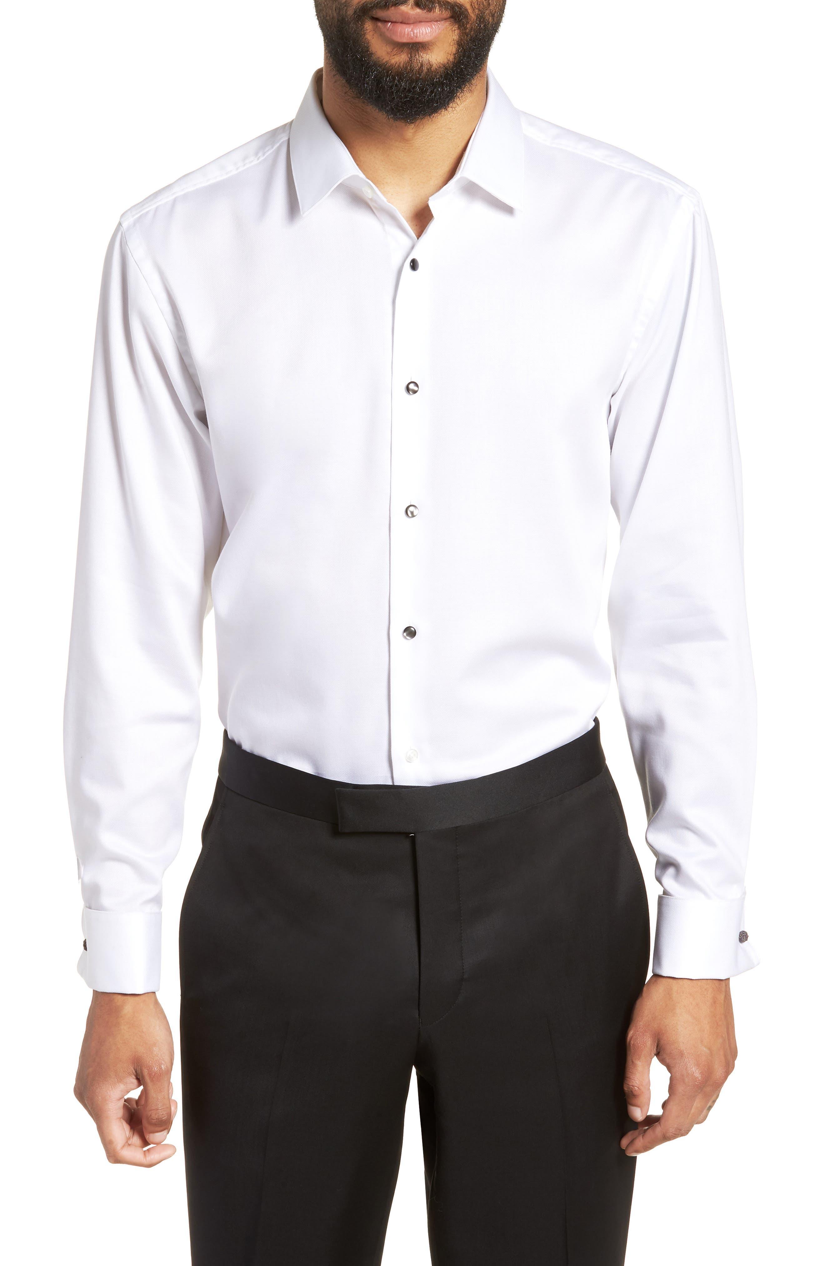 jasper slim fit tuxedo shirt