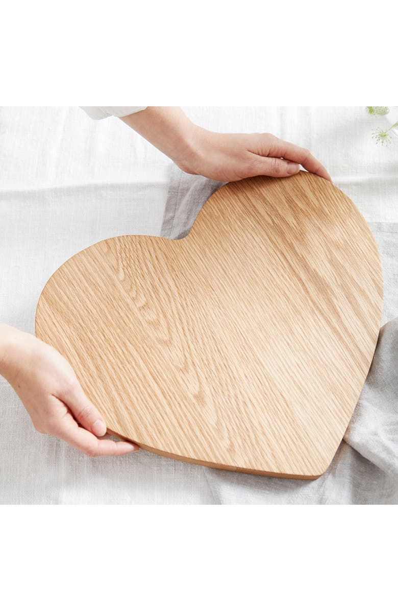 THE WHITE COMPANY Heart Oak Large Serving Board, Main, color, NATURAL