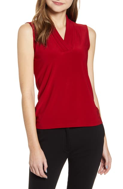 Anne Klein Tops PLEATED NECK SLEEVELESS TOP
