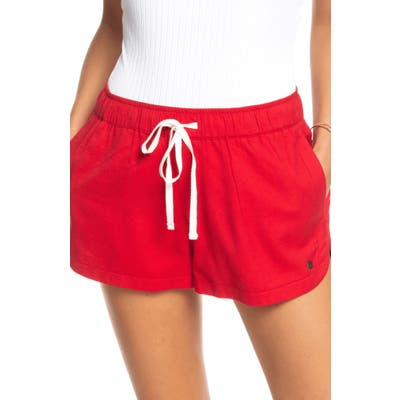 Roxy New Impossible Love Shorts, Red