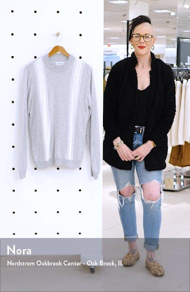 Stripe Mock Neck Sweater, sales video thumbnail
