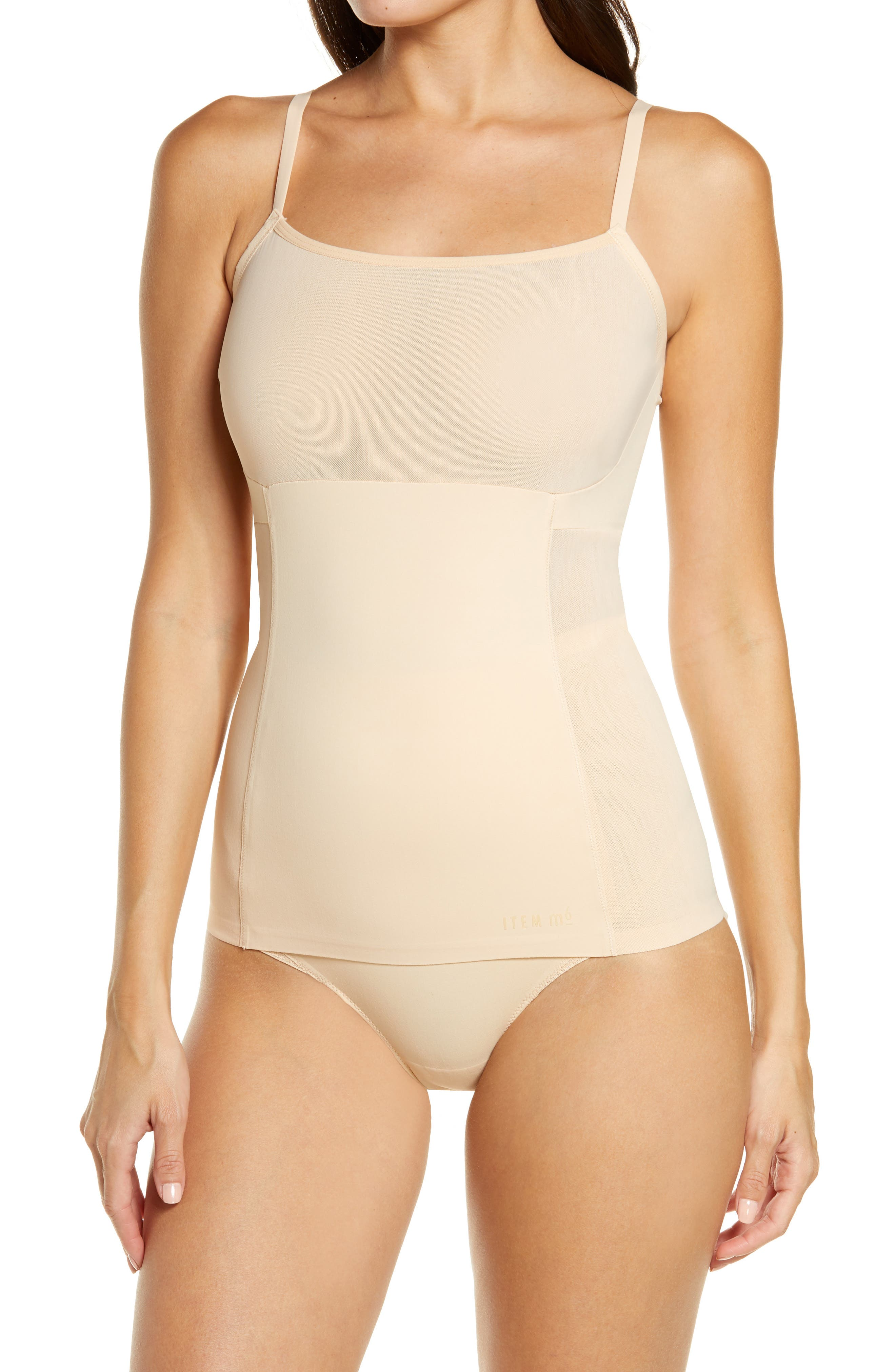 Convertible Strap Mesh Shaping Camisole