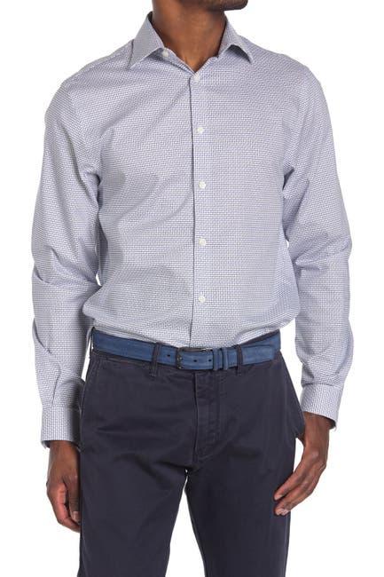 Image of MICHAEL Michael Kors Micro Check Print Regular Fit Shirt