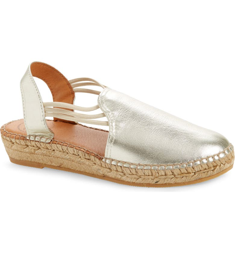 TONI PONS Noelia Espadrille Slip-On, Main, color, PLATINUM LEATHER