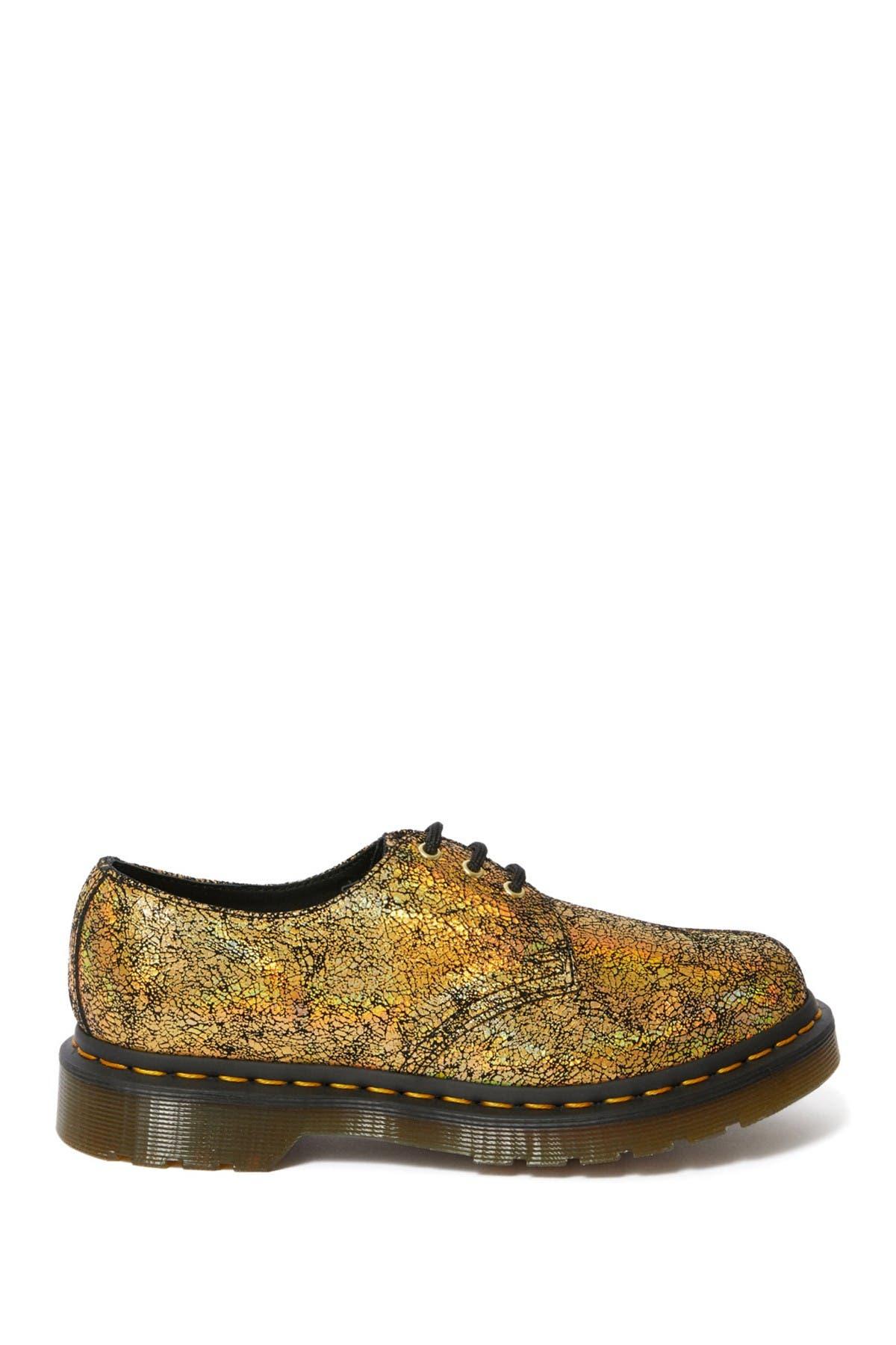 Image of Dr. Martens 1461 Gold Crackle Oxford Shoe