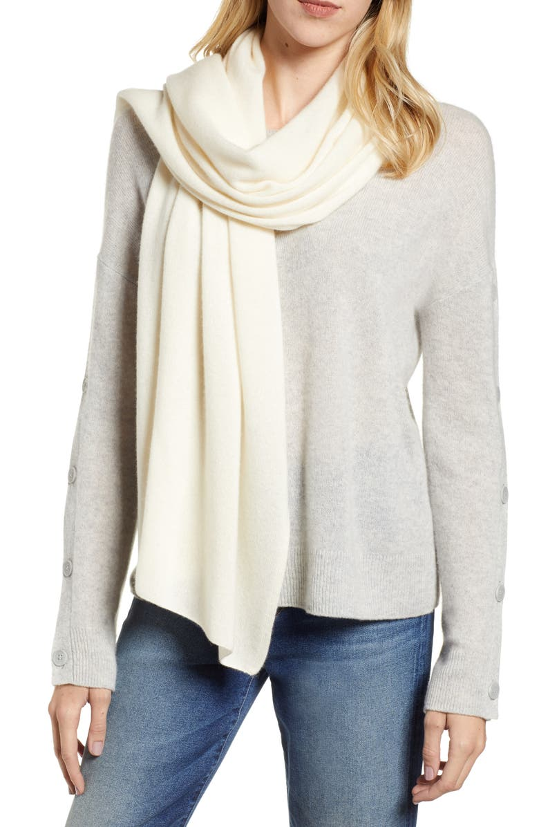 HALOGEN<SUP>®</SUP> Solid Cashmere Scarf, Main, color, 900