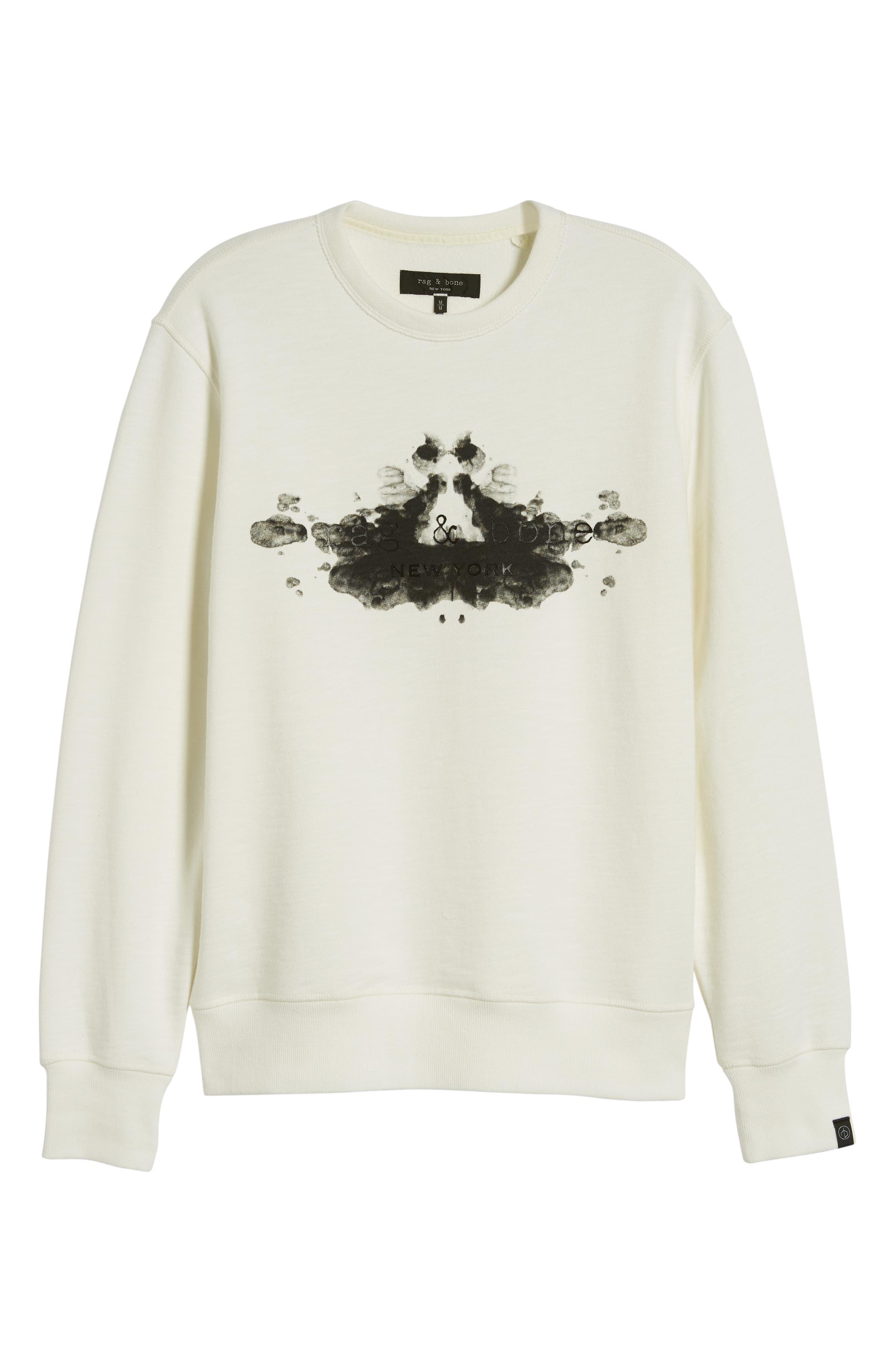 ,                             Rorschach Slim Fit Sweatshirt,                             Alternate thumbnail 6, color,                             IVORY