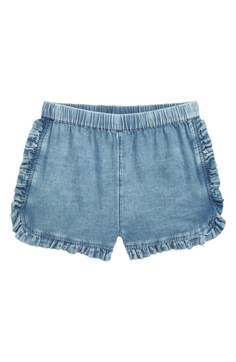 TUCKER + TATE Ruffle Hem Shorts, Main, color, 450
