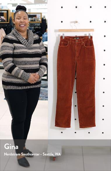 High Waist Straight Leg Corduroy Ankle Pants, sales video thumbnail