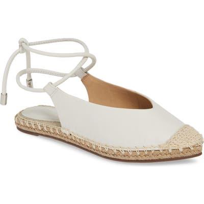 Schutz Laba Wraparound Espadrille Sandal, White