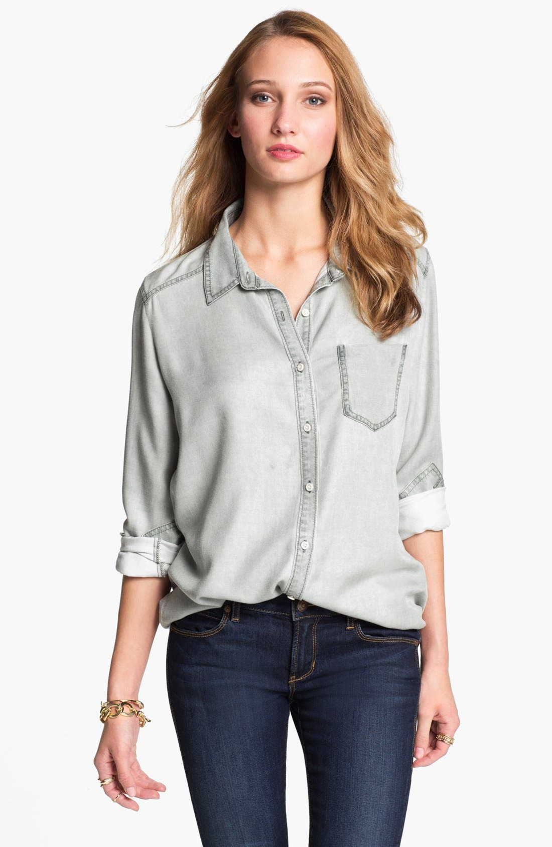 Rubbish Oversized Menswear Shirt, Main, color, 021