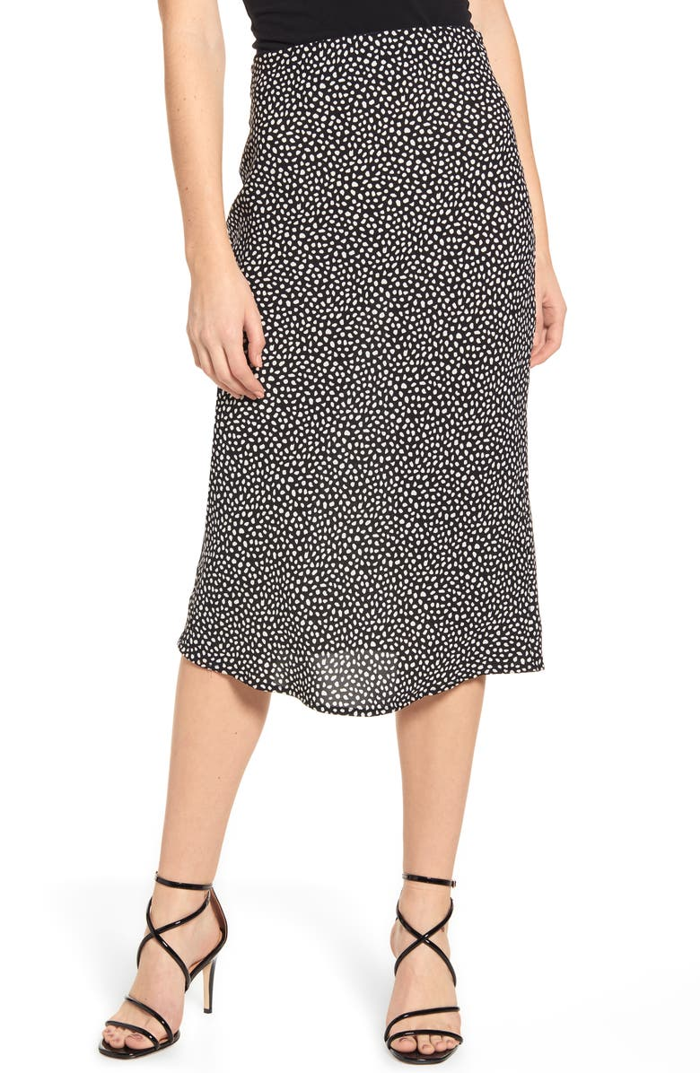 J.O.A. Polka Dot Skirt, Main, color, 001