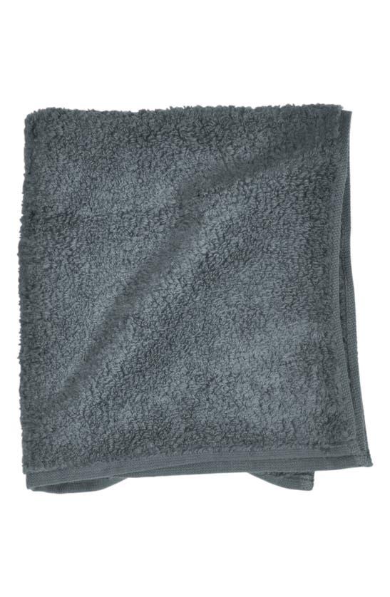 Uchino Zero Twist Hand & Hair Towel In Slate