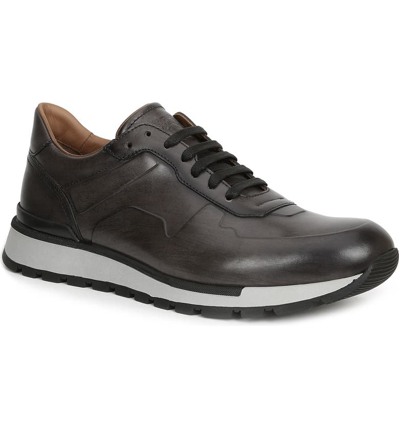 BRUNO MAGLI Davio Low Top Sneaker, Main, color, DARK GREY