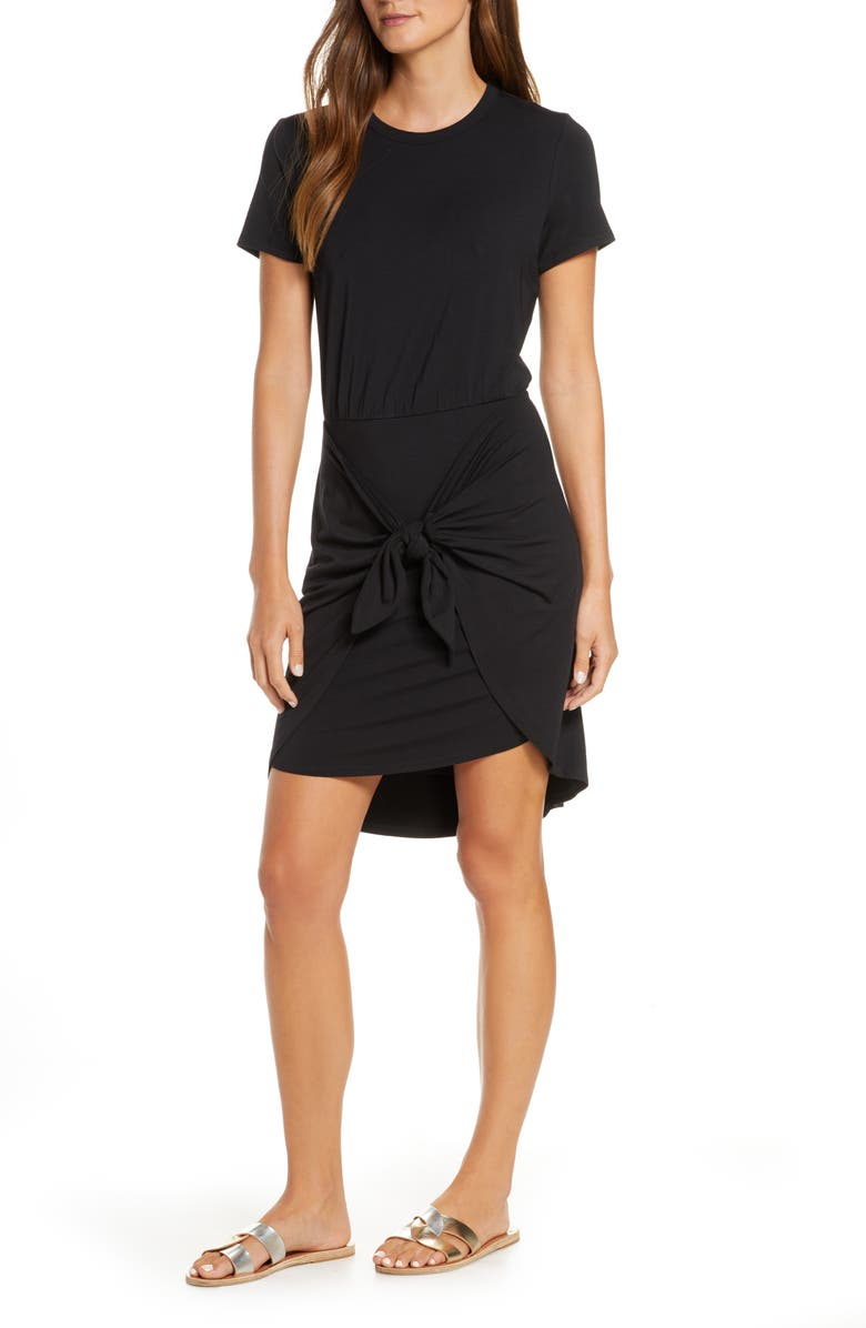 VERONICA BEARD Bernice Dress Cover-Up, Main, color, BLACK