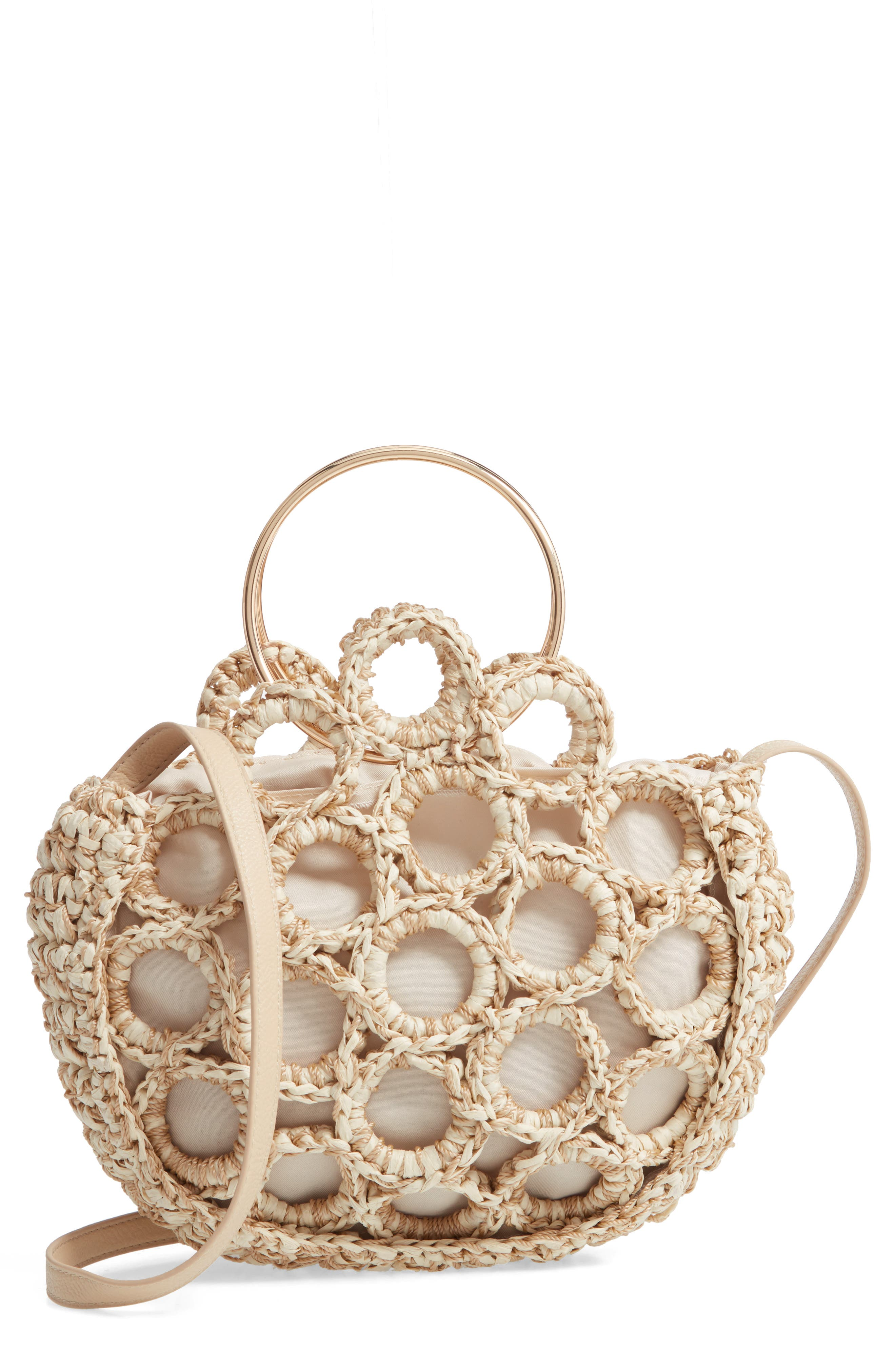 Mali + Lili Rachel Crochet Half Moon Bag