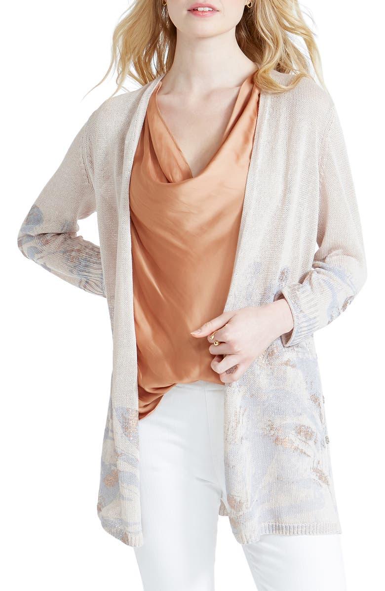 NIC+ZOE Haven Linen Blend Cardigan, Main, color, 250