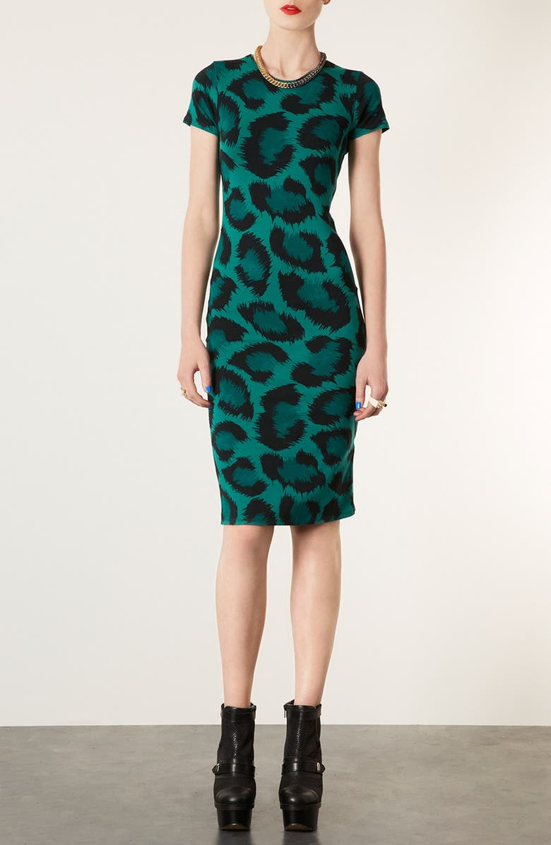 TOPSHOP Back Cut Out Body-Con Dress, Main, color, 300