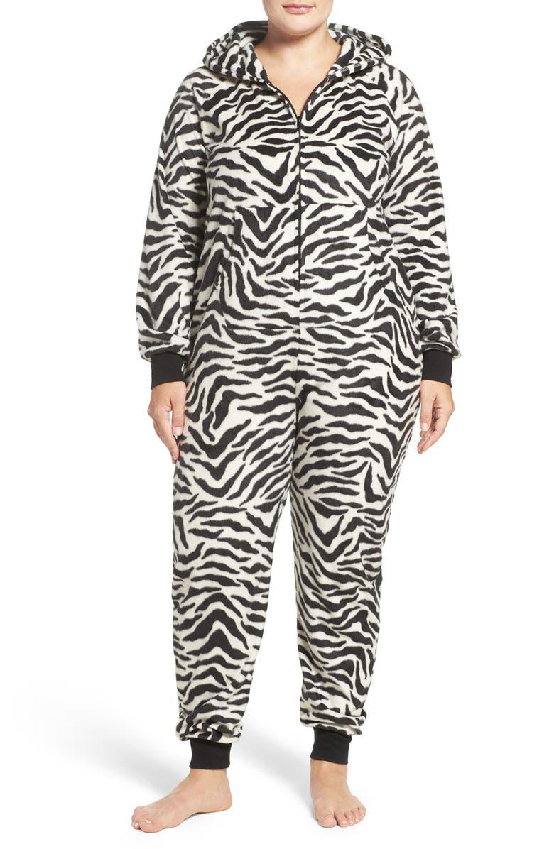COZY ZOE 'Zebra' One-Piece Pajamas (Plus Size)   Nordstrom