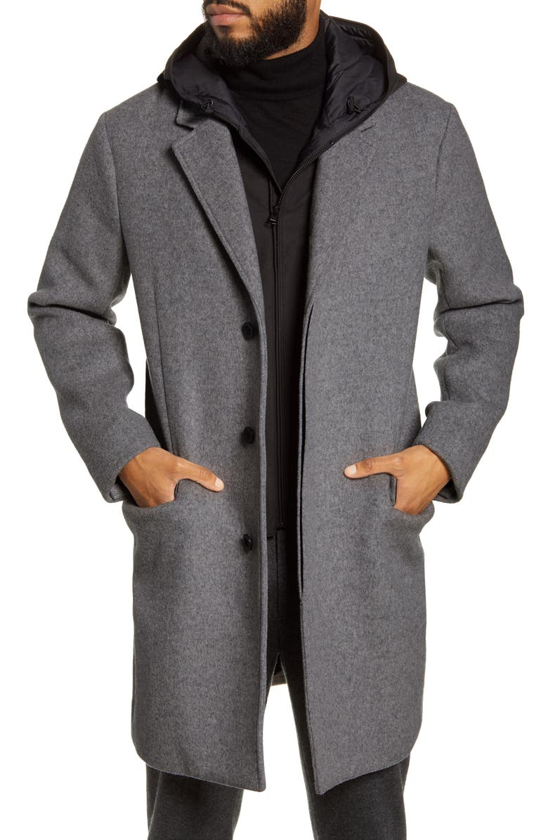 VINCE Hooded Topcoat, Main, color, 033